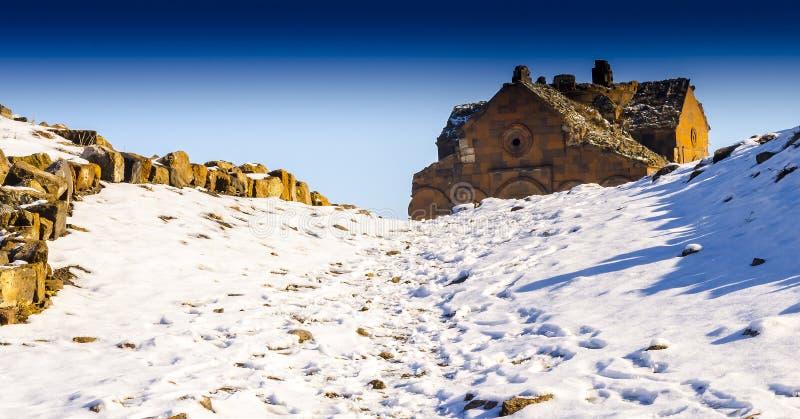 Ani Ruins Winter (4 Seizoen Ani) stock foto