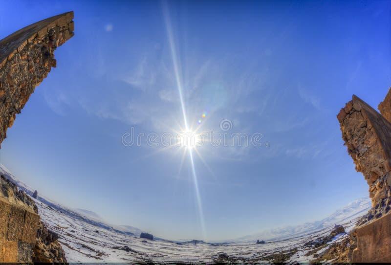 Ani Rujnuje zimę HDR (4 sezon) fotografia royalty free