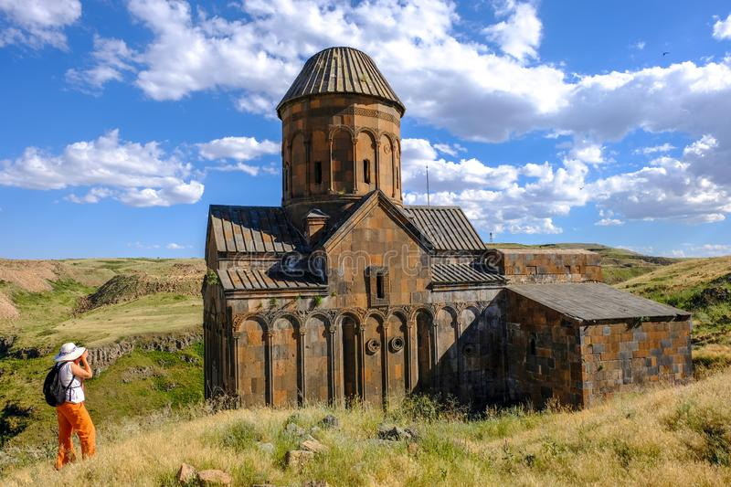 Ani site of historical cities  Historical Church and temple in Ani, Kars, Turkey stock photo