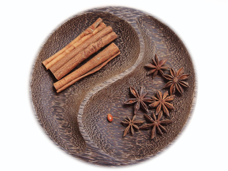 Anice and cinnamon royalty free stock photo