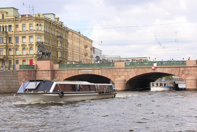 Download Anichkov Bridge And  Fontanka River Stock Image - Image of buildings, fontanka: 18151021