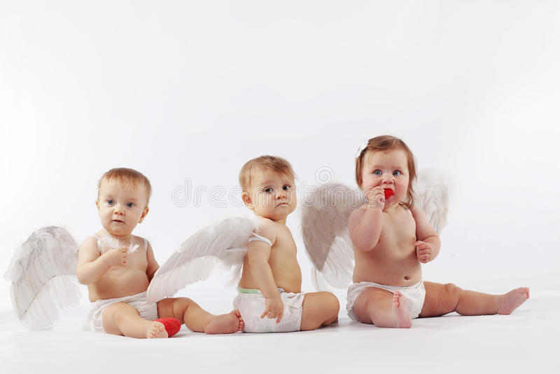 anielscy dzieci obrazy royalty free