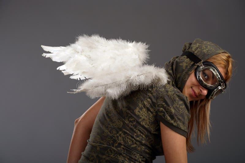 anielscy dziewczyny biel skrzydła obrazy stock