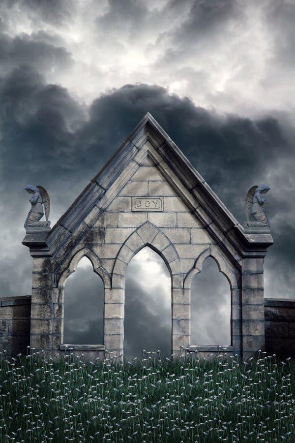 anielski tła premade widok royalty ilustracja