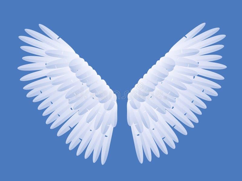 anielskie skrzydła ilustracji