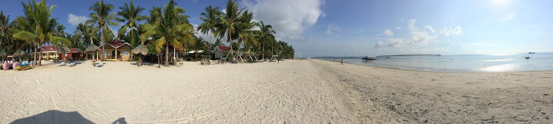 Anika Beach dans Bantayan image stock