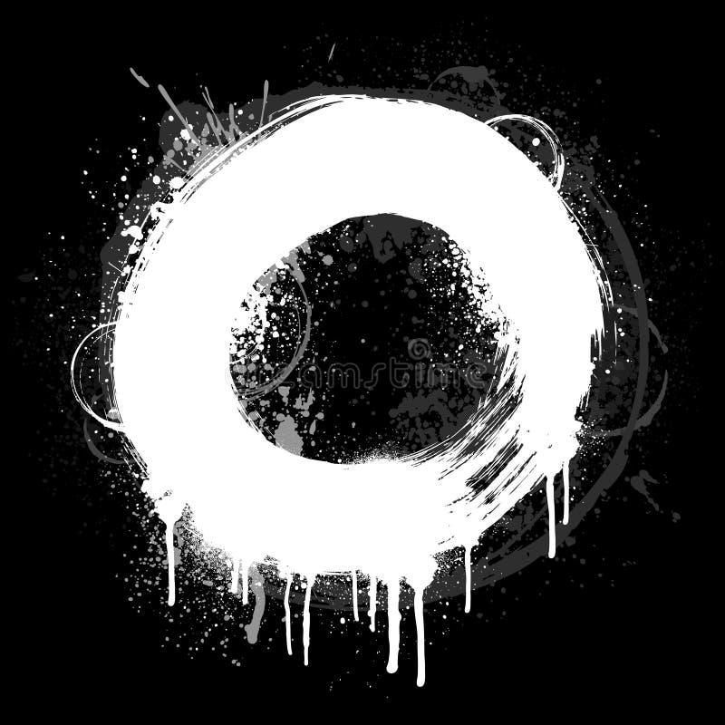 Anillo blanco del grunge ilustración del vector