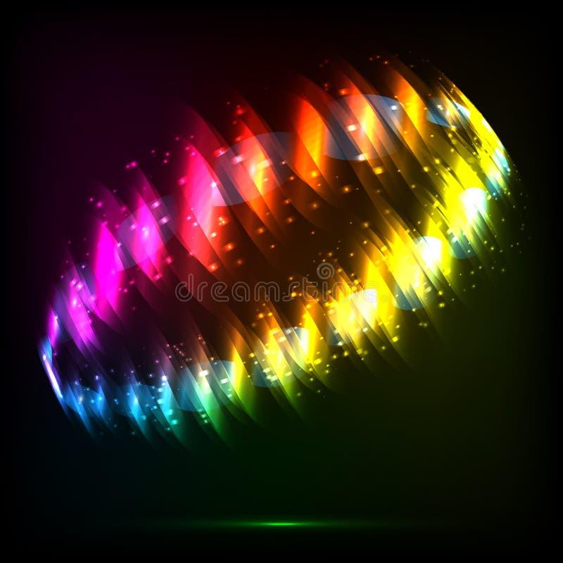 Anillo brillante del extracto del vector de las luces de neón stock de ilustración