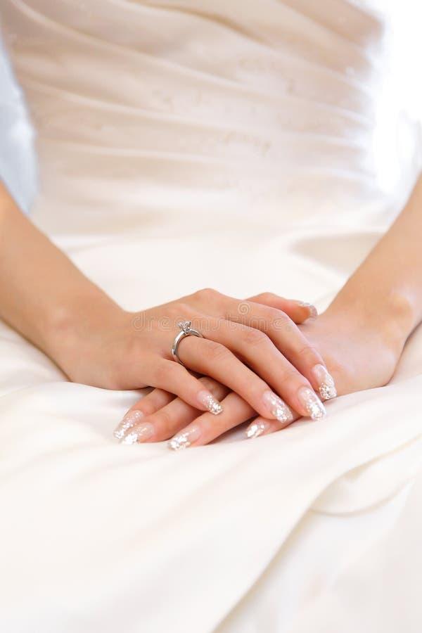 Anillo de bodas de diamante foto de archivo