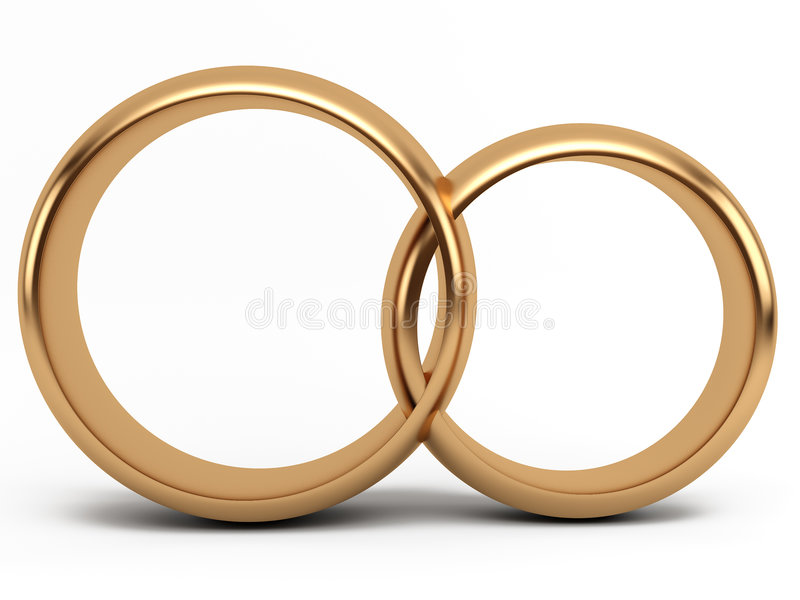 Anillo de bodas del oro libre illustration