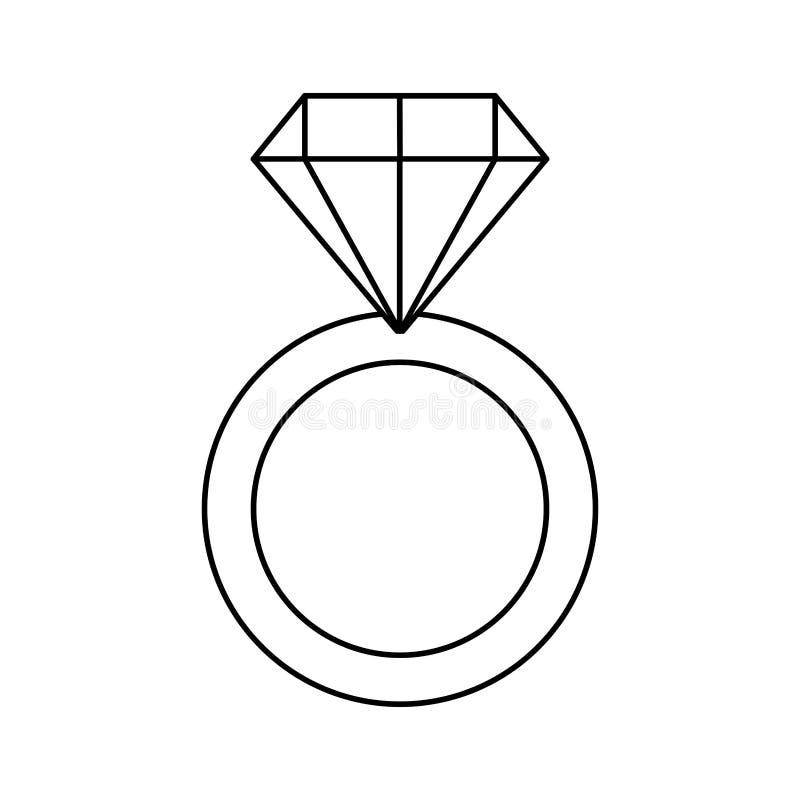 Anillo de compromiso con el diamante libre illustration