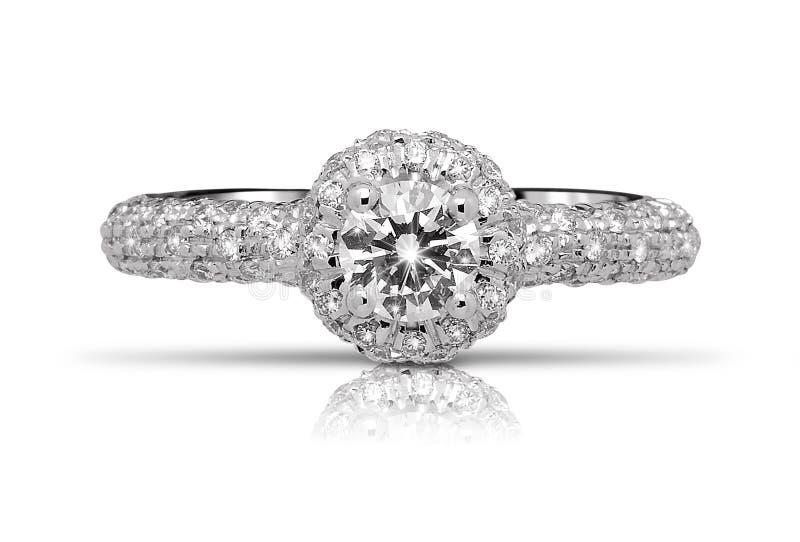 Anillo de diamante chispeante foto de archivo libre de regalías