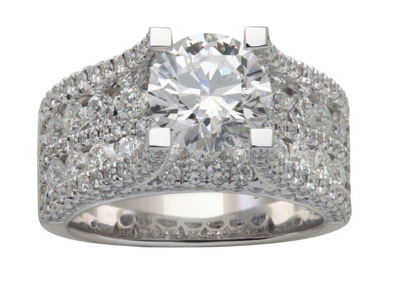 Anillo de diamante de lujo imagen de archivo libre de regalías