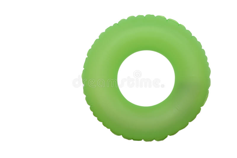 Anillo de goma verde para la piscina fotografía de archivo libre de regalías