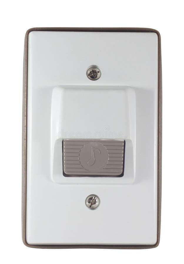Anillo de la alarma de puerta fotografía de archivo