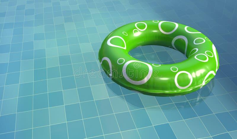 Anillo de la nadada en piscina ilustración del vector