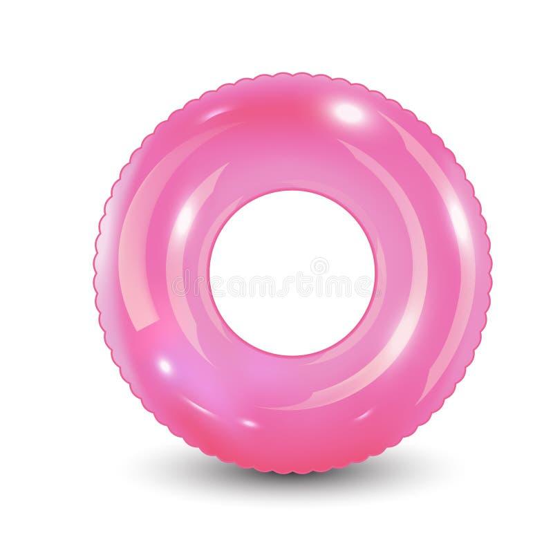 Anillo de la nadada Juguete de goma inflable Verano realista ilustración del vector