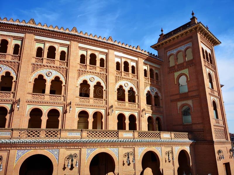 Anillo de la tauromaquia de Plaza de Toros de Las Ventas en Madrid, España fotografía de archivo