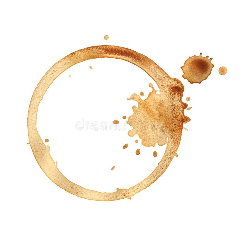 Anillo de la taza de café. imagen de archivo libre de regalías