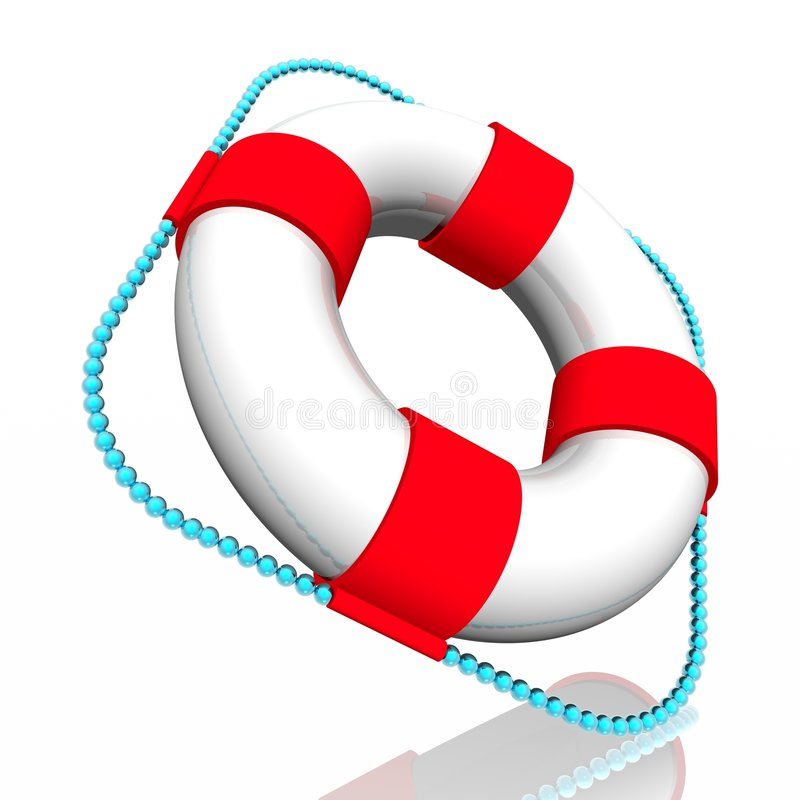 Anillo de Lifebuoy stock de ilustración