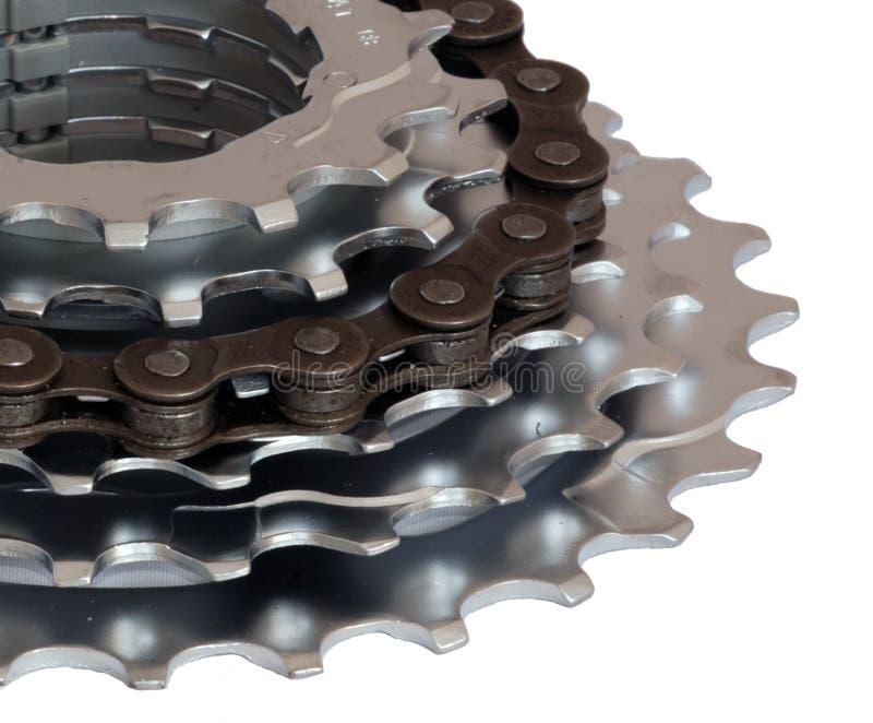 Anillo del engranaje de la bicicleta imágenes de archivo libres de regalías