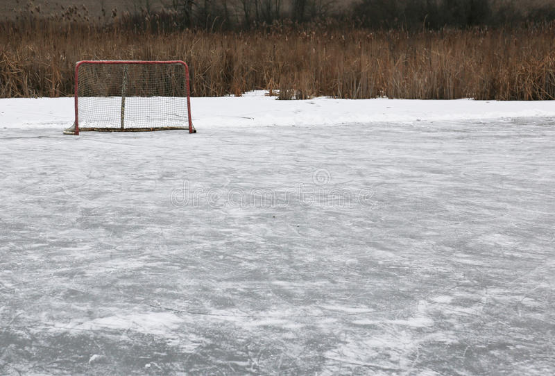 Anillo del hockey sobre hielo imagen de archivo libre de regalías