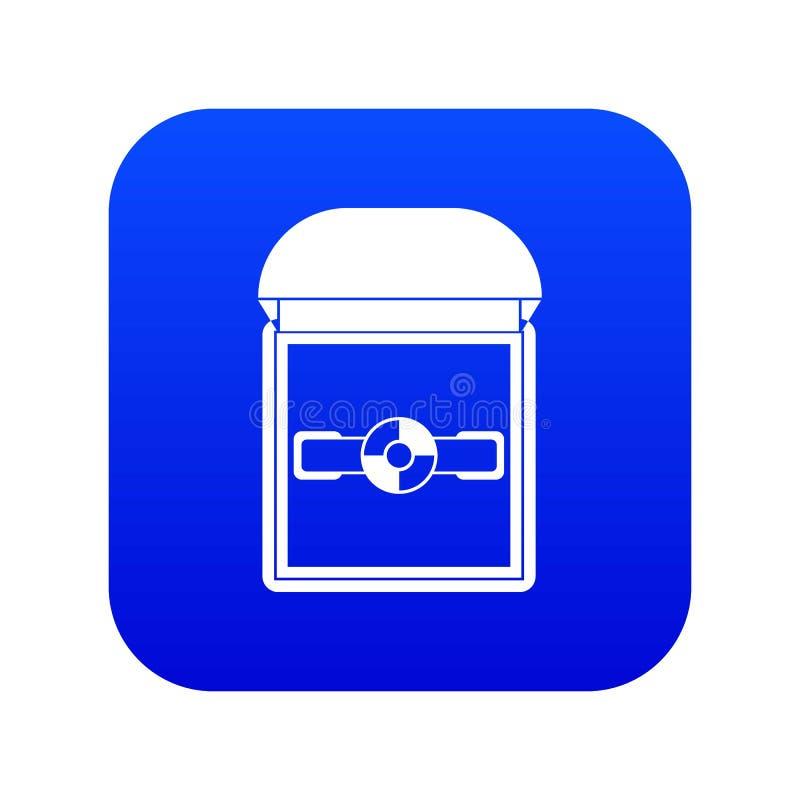 Anillo en un azul digital del icono de la caja del terciopelo libre illustration