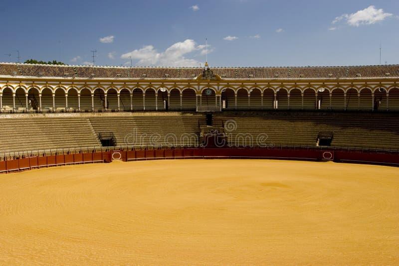 Anillo famoso del toro en Sevilla fotografía de archivo libre de regalías