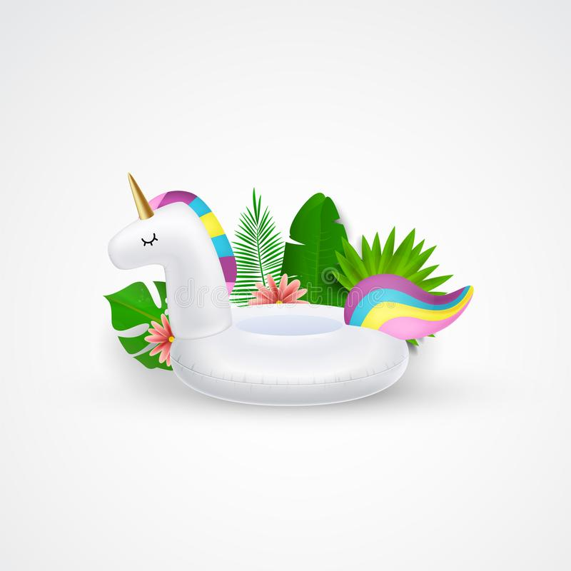 Anillo inflable de la piscina del unicornio, tubo, flotador libre illustration
