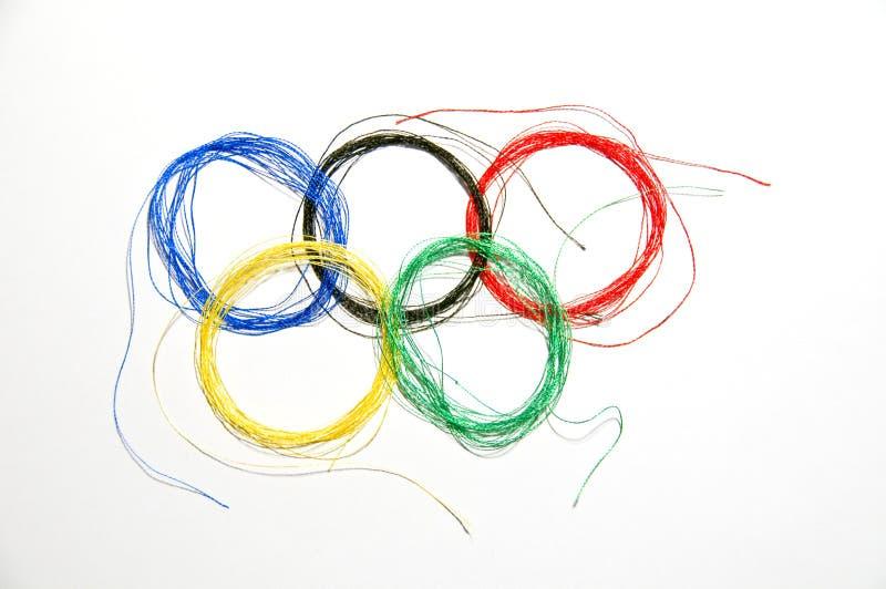 Anillo olímpico imagenes de archivo