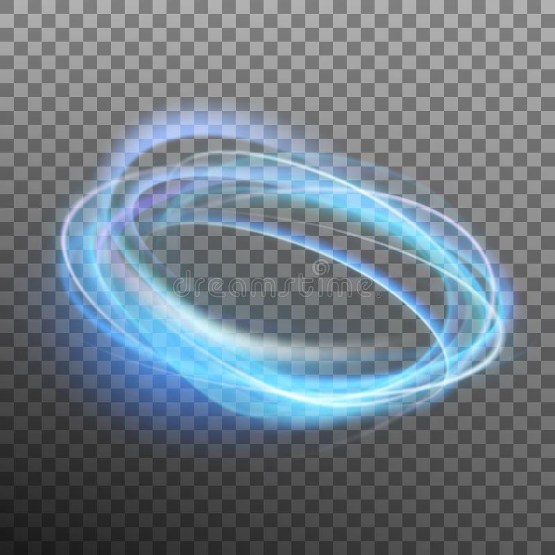 Anillo que brilla intensamente abstracto en backfround transparente Vector del EPS 10 stock de ilustración