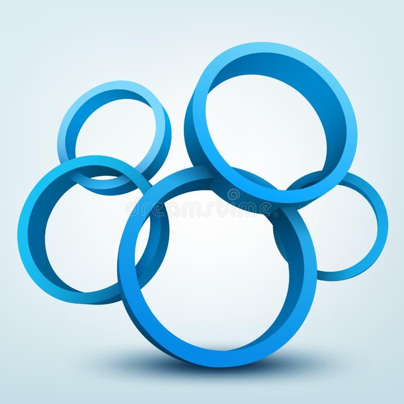 anillos 3d stock de ilustración