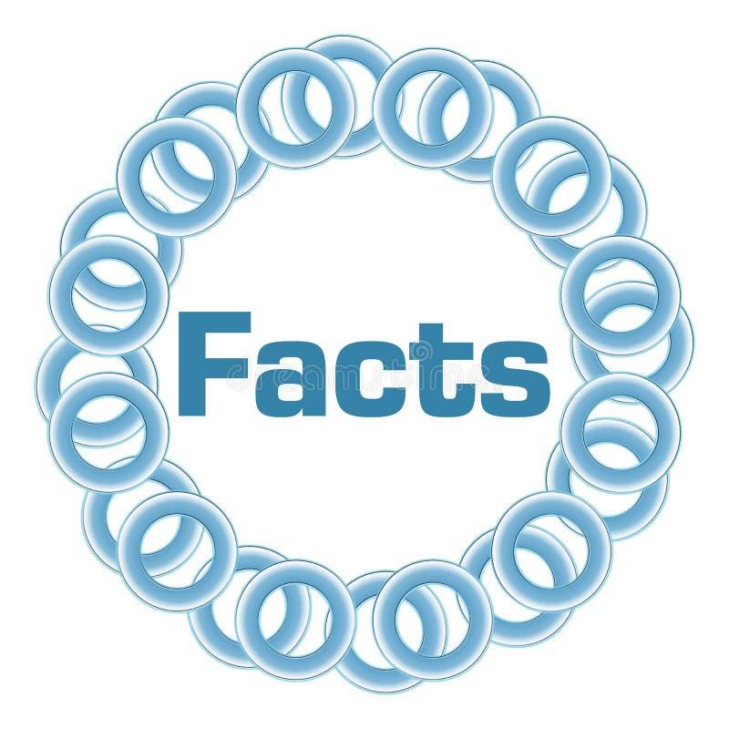 Anillos azules de los hechos circulares libre illustration