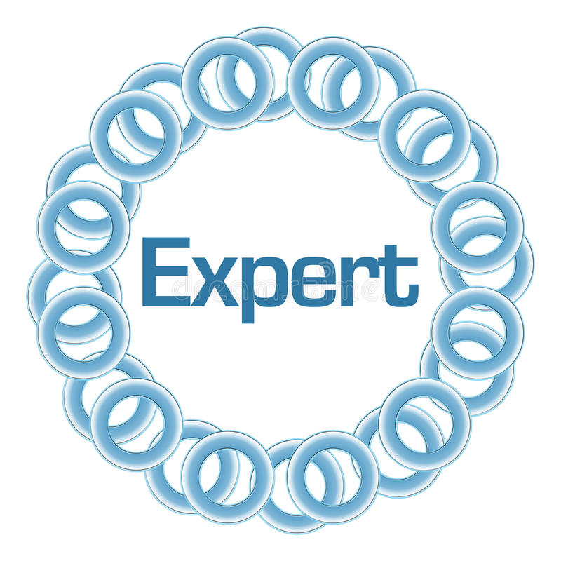 Anillos azules expertos circulares stock de ilustración