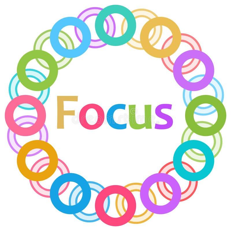 Anillos coloridos del foco circulares stock de ilustración