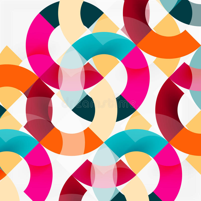 Anillos coloridos en el fondo gris, diseño geométrico moderno del modelo libre illustration