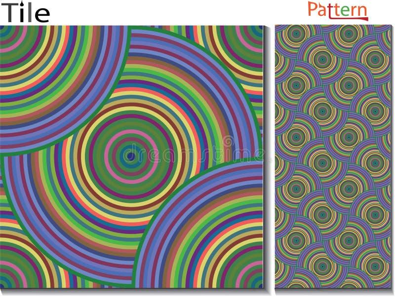 Anillos concéntricos abstraiga el fondo Originado en ordenador libre illustration