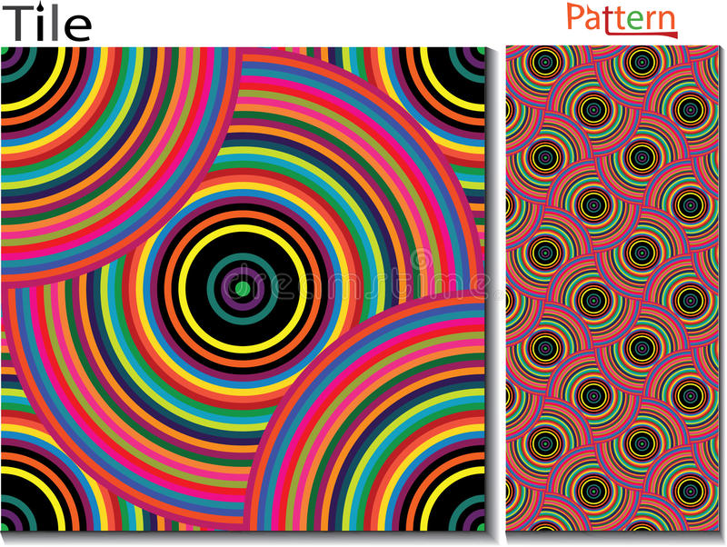 Anillos concéntricos abstraiga el fondo Originado en ordenador ilustración del vector