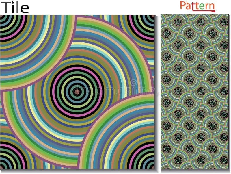 Anillos concéntricos abstraiga el fondo Vector generado por ordenador libre illustration