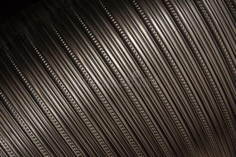 Anillos de acero del tubo fotografía de archivo libre de regalías