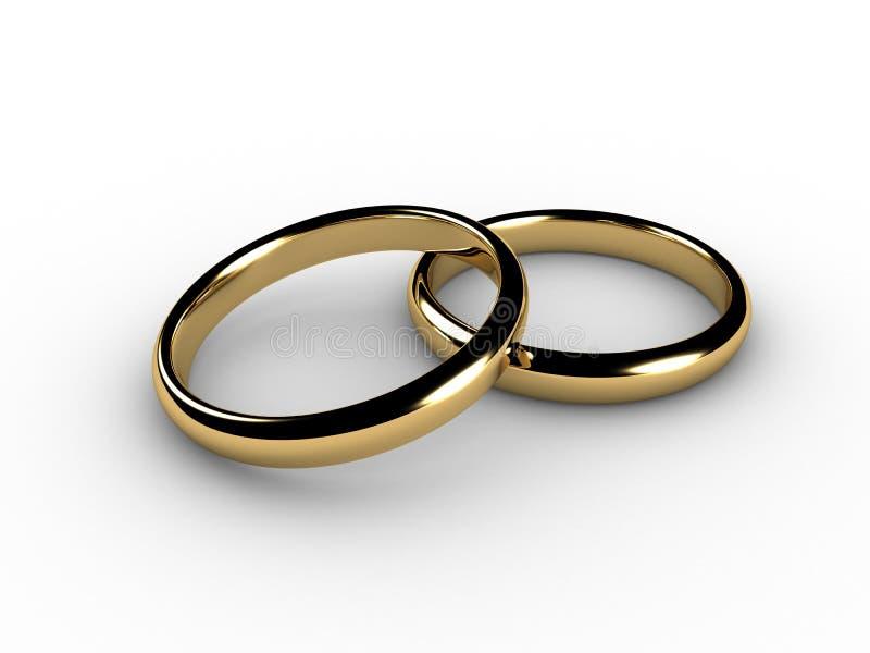 anillos de bodas 3D fotos de archivo libres de regalías