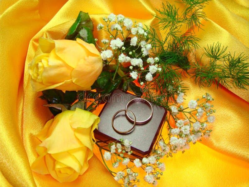 Anillos de bodas. foto de archivo libre de regalías