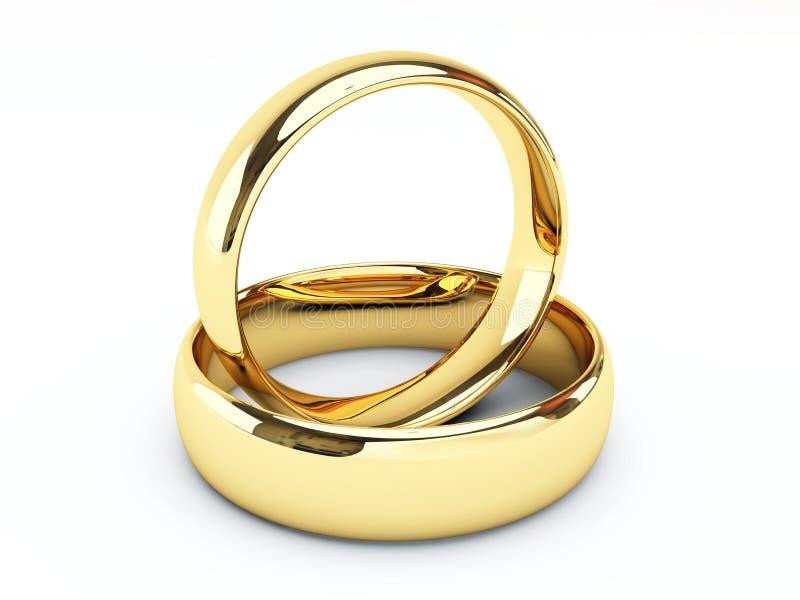 Anillos de bodas del oro libre illustration