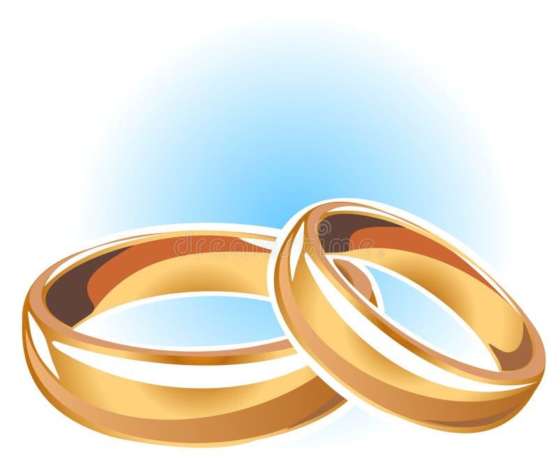 Download Anillos de bodas del oro stock de ilustración. Ilustración de accesorio - 7282872