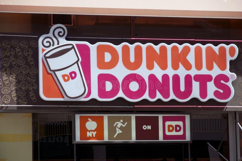 Anillos de espuma de Dunkin foto de archivo