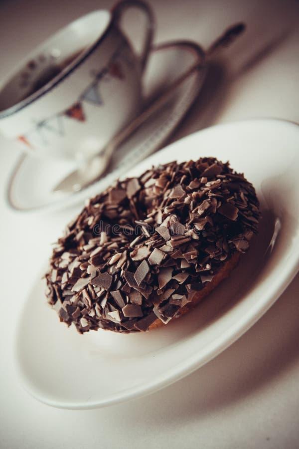 Download Anillos de espuma y café foto de archivo. Imagen de chocolate - 64200042