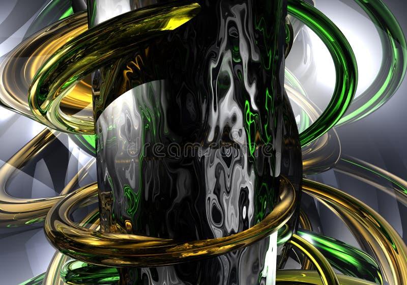 Anillos de Gold&freen ilustración del vector