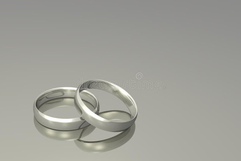 Anillos de la bodas de plata stock de ilustración
