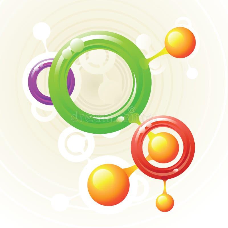 Anillos de la molécula ilustración del vector