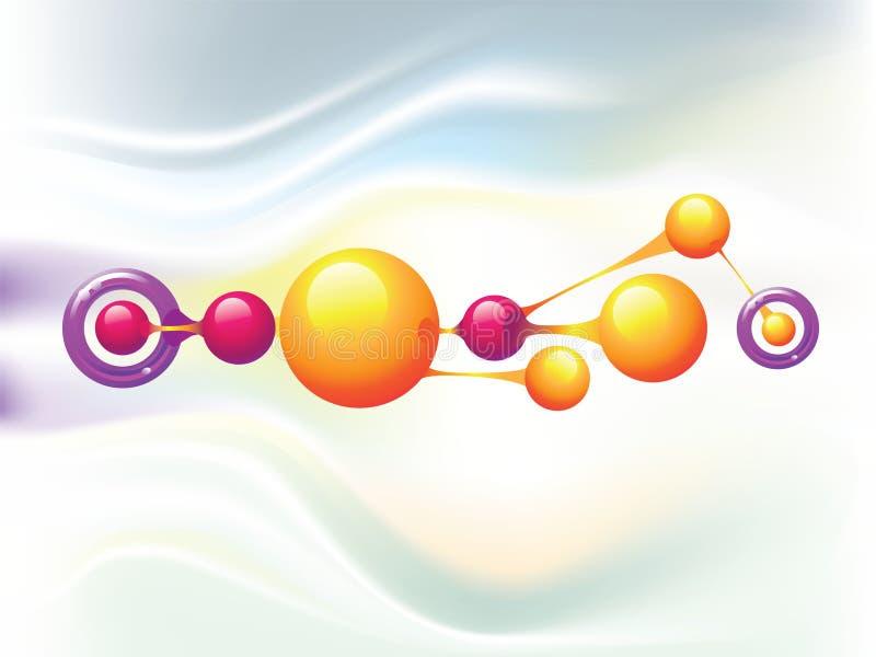 Anillos de la molécula stock de ilustración
